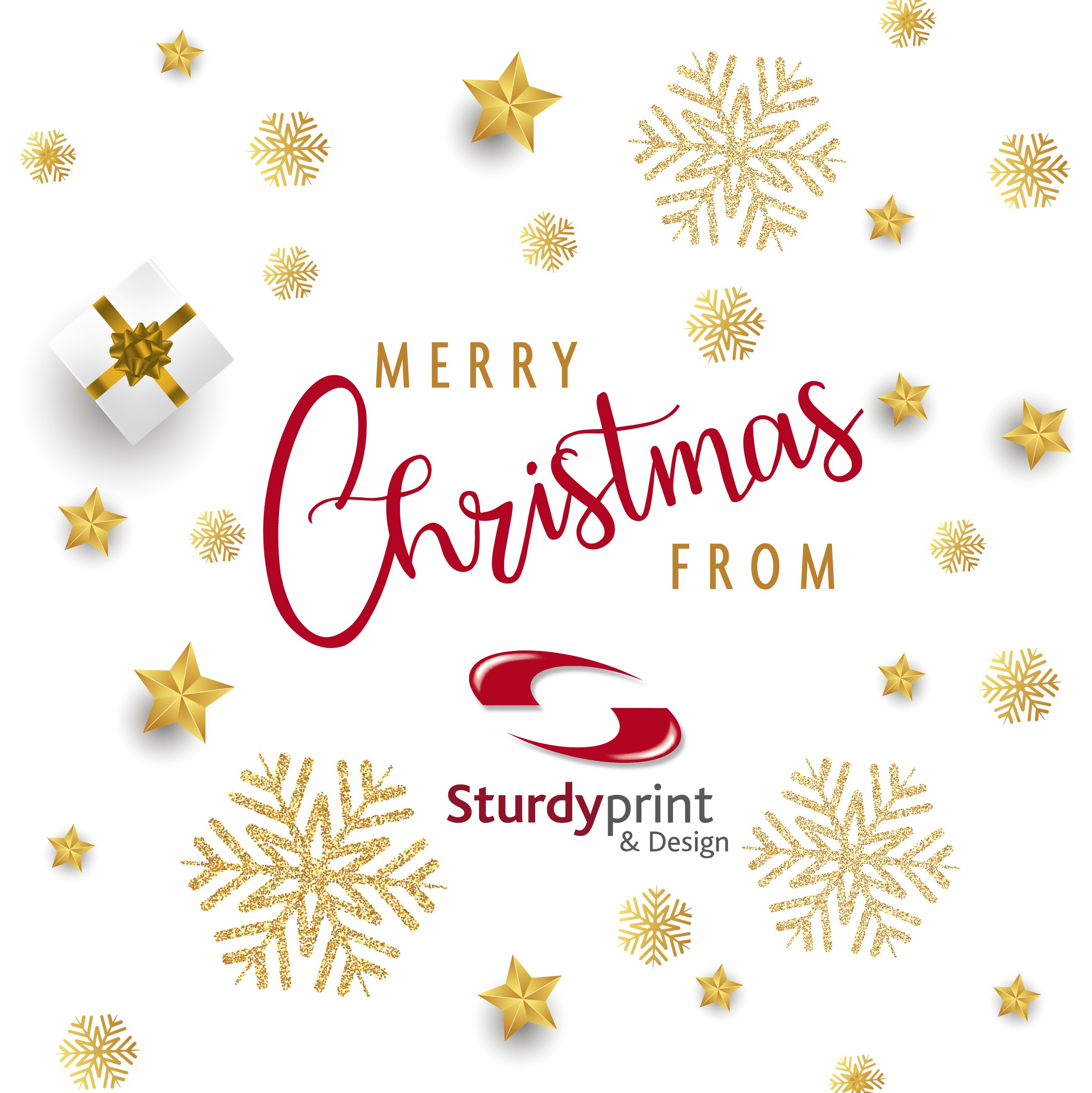 Merry Christmas from us all at Sturdy Print