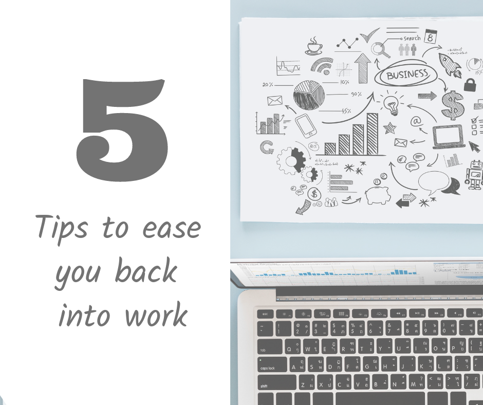 5 Tips to ease you back into work