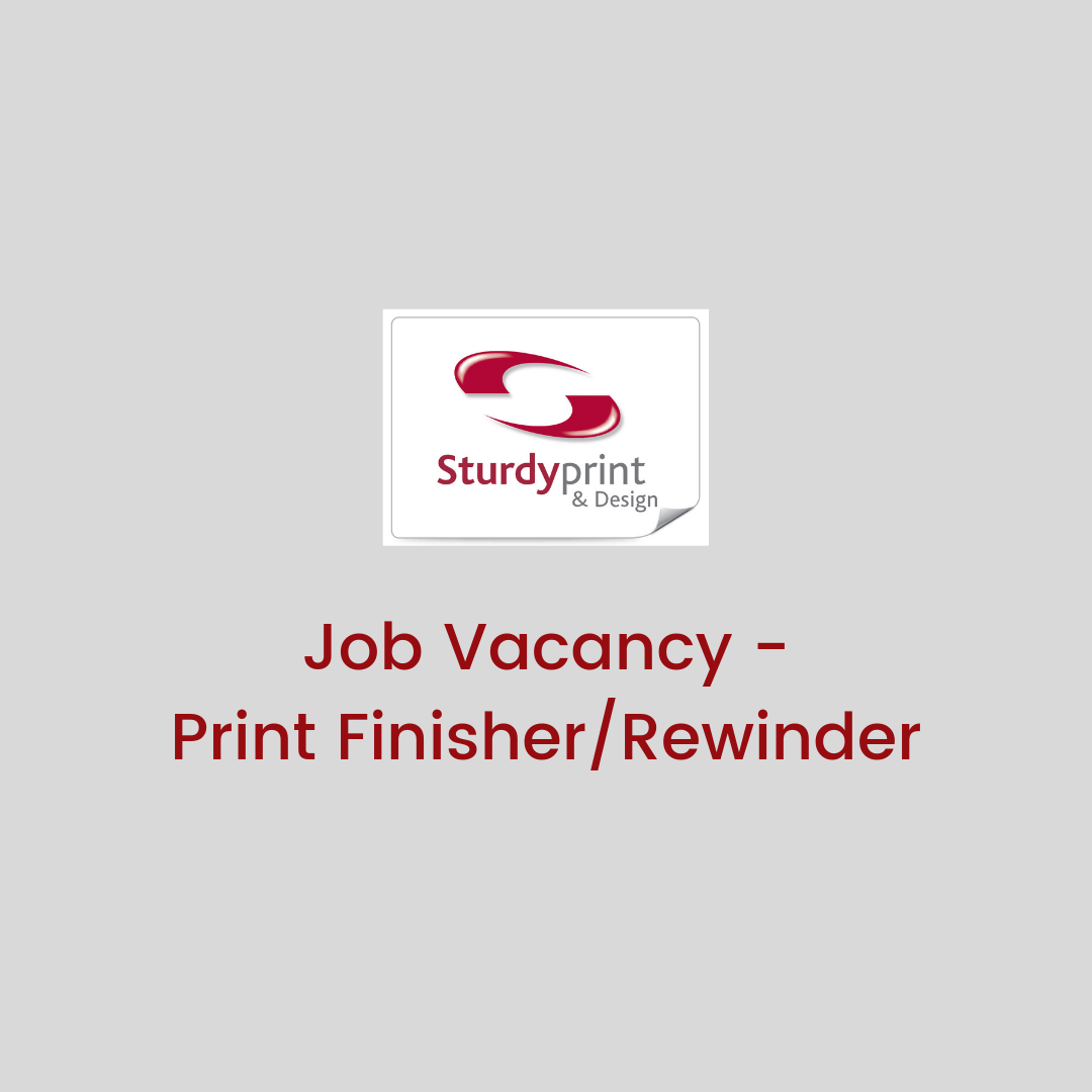 Job Vacancy - PRINT FINISHER/REWINDER