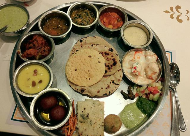 Gujarati thali in Pune