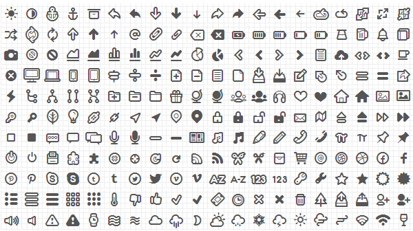 Free Icon Fonts – Eliminate unnecessary images