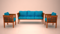 Opal Sofa Set, FlatFurnish
