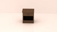Opal Bedside Table, FlatFurnish