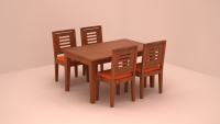Amber Dining Table Set - 4 Seater, FlatFurnish