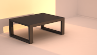 Amber Coffee Table - 4ft x 2ft, FlatFurnish