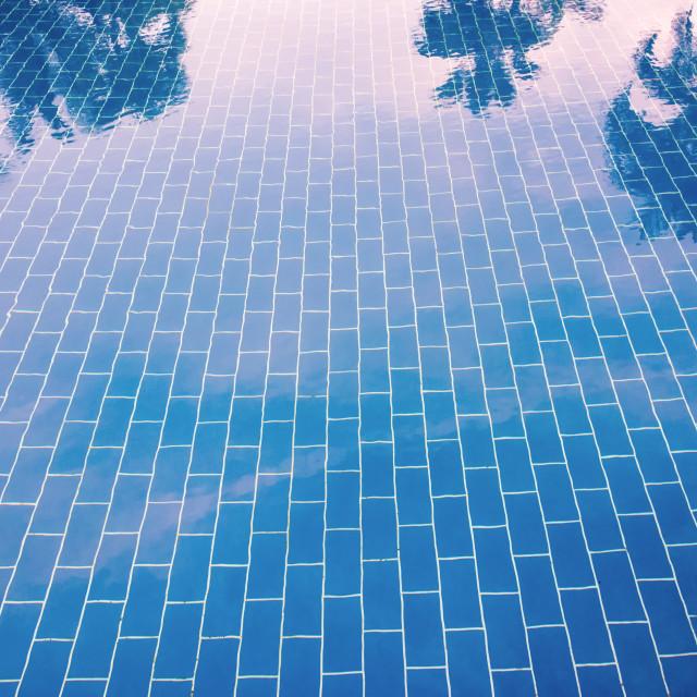 Water under floor tiles