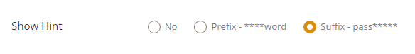 Security Question Hint Settings