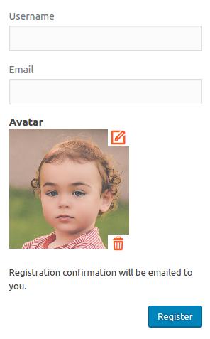 Upload Avatar On Registration Form