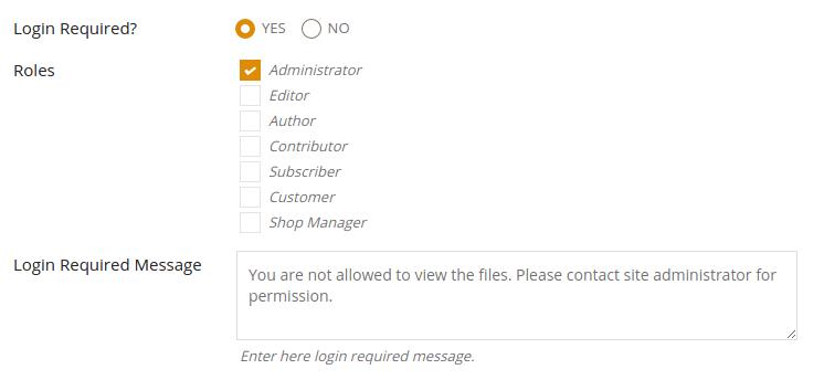 Role Based Permission