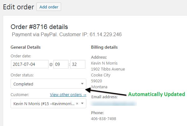 Automatic Order Status