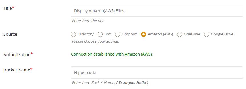 amazon s3 storage files