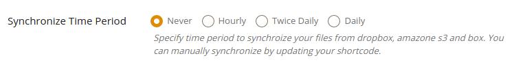 Synchronize Time Period