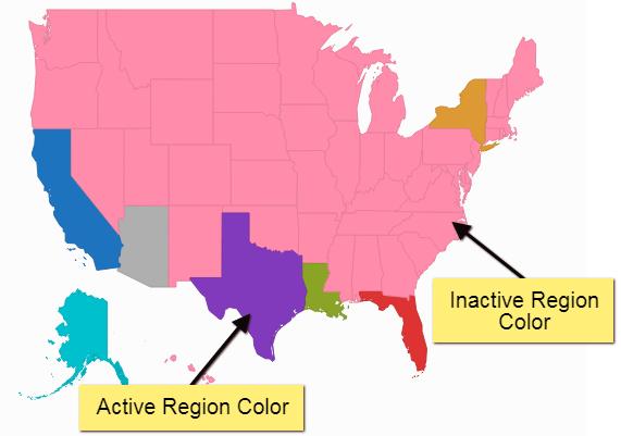 Inactive Region Color