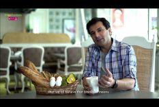 Eggs baked with Avocado & Challa Bread - Vikas