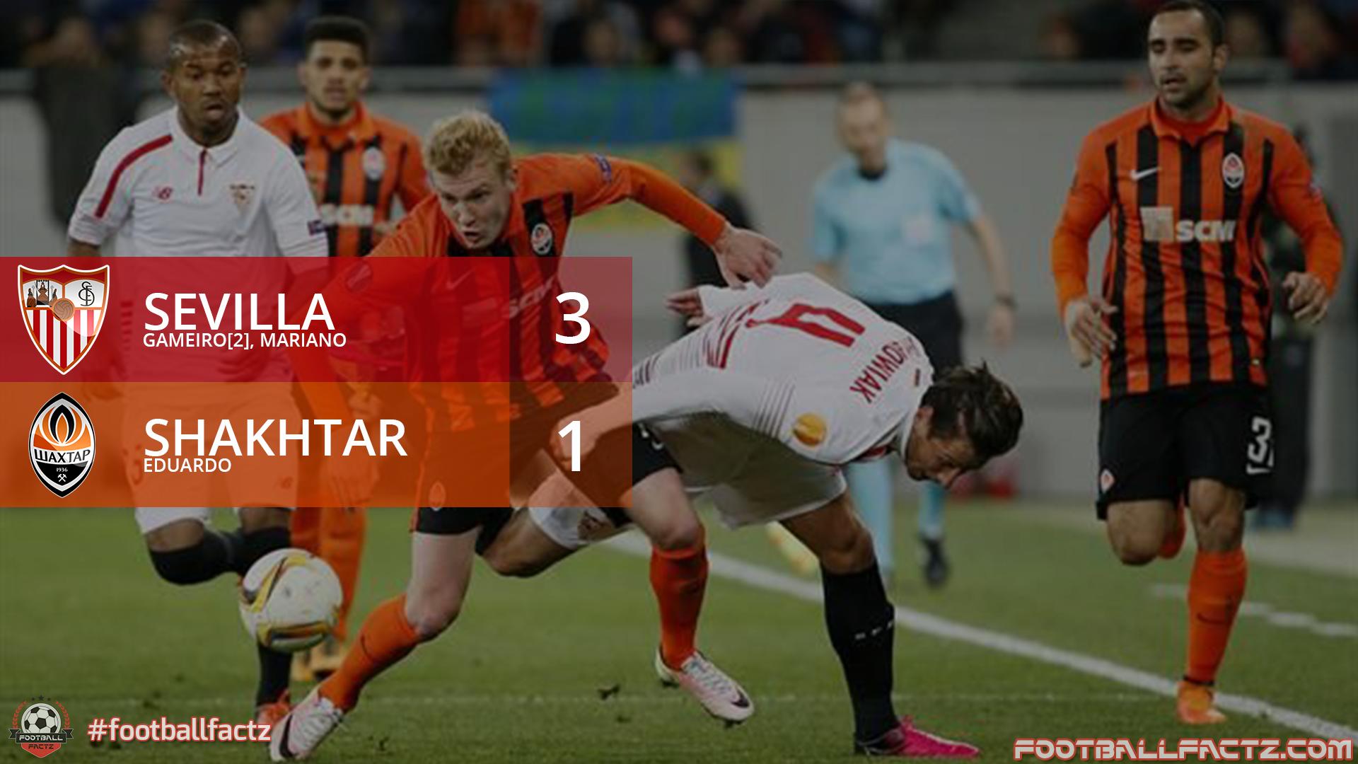 Sevilla 3 - 1 Shakhtar, Europa League