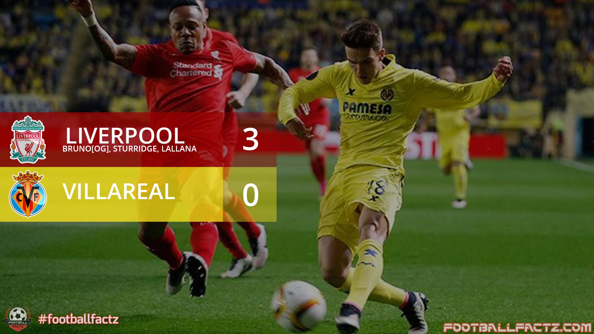 Liverpool 3 - 0 Villarreal, Europa League