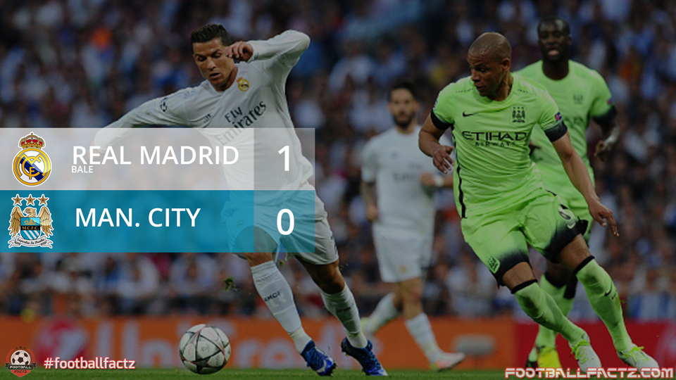 Real Madrid 1 - 0 Manchester City, Champions League