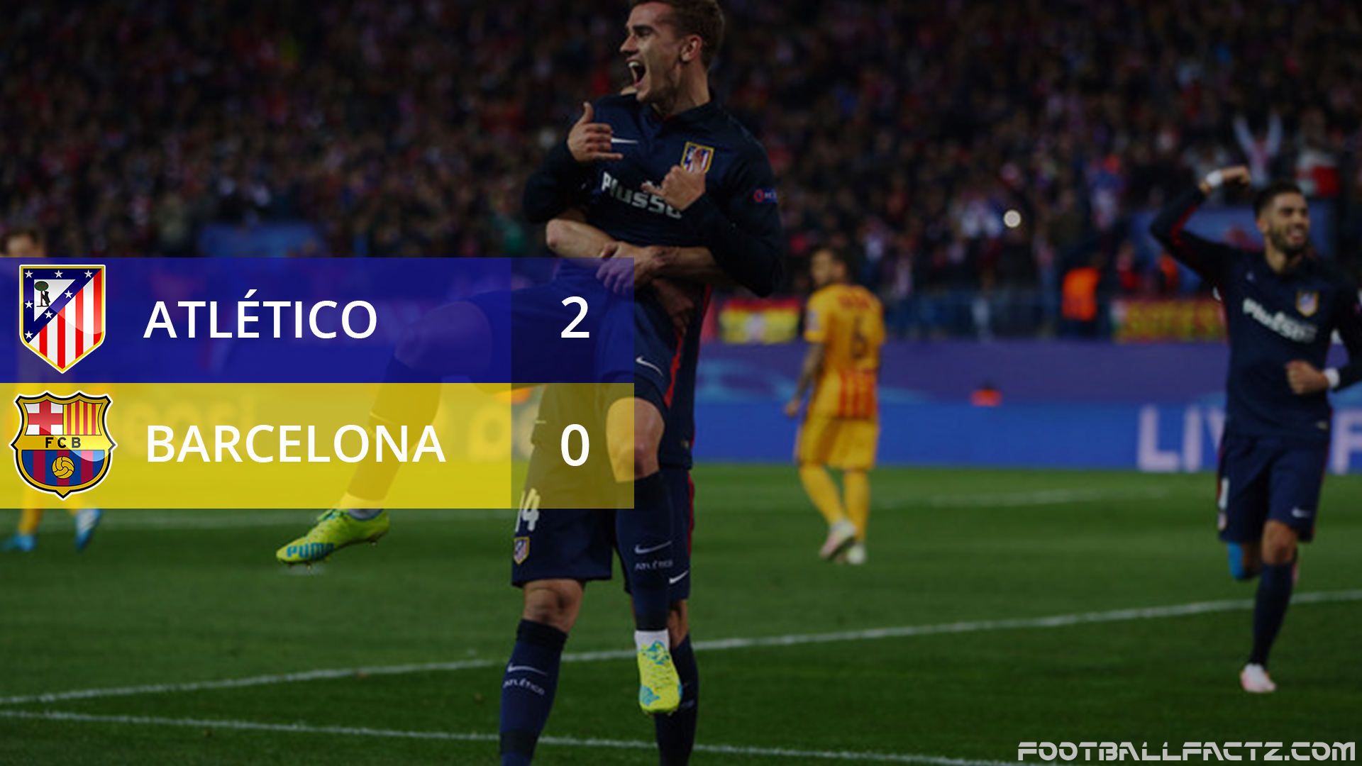 Atletico Madrid 2 - 0 Barcelona, Champions League