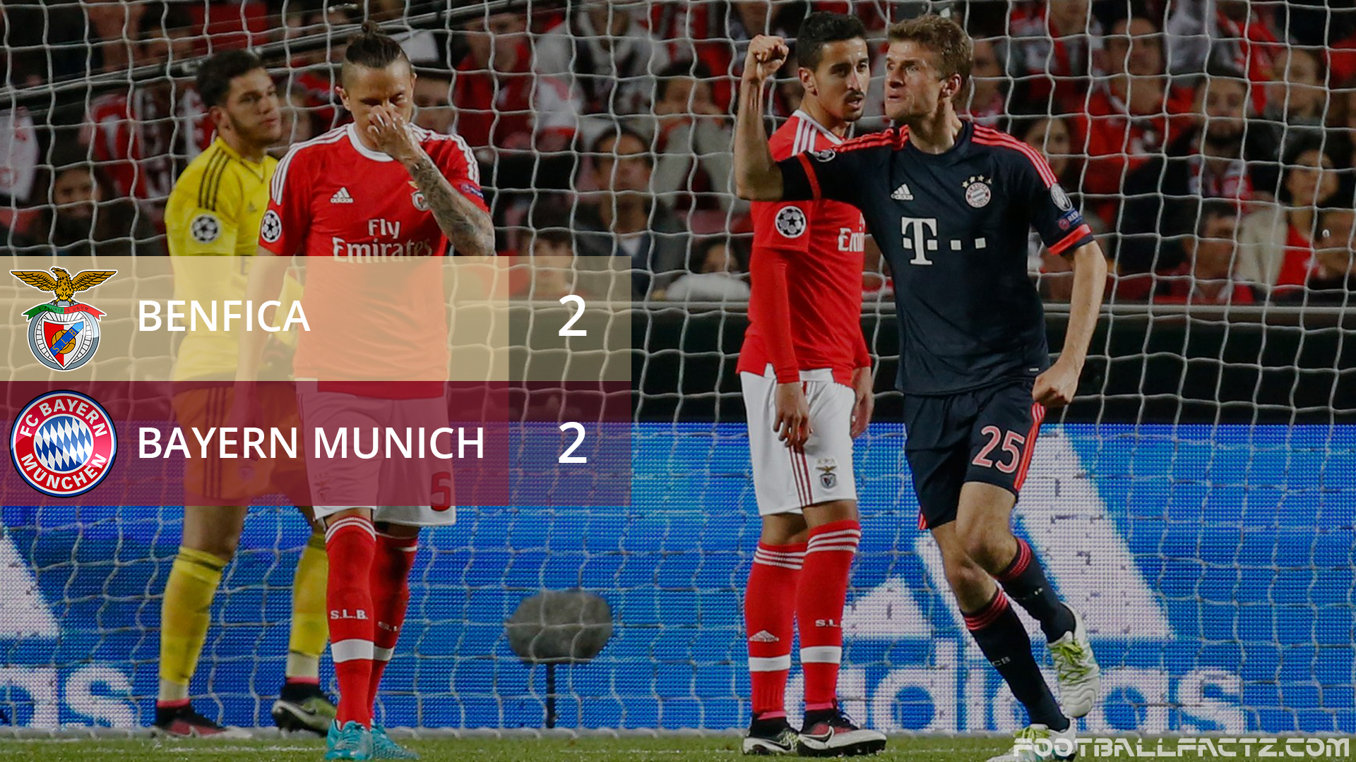 Benfica 2 - 2 Bayern Munich, Champions League