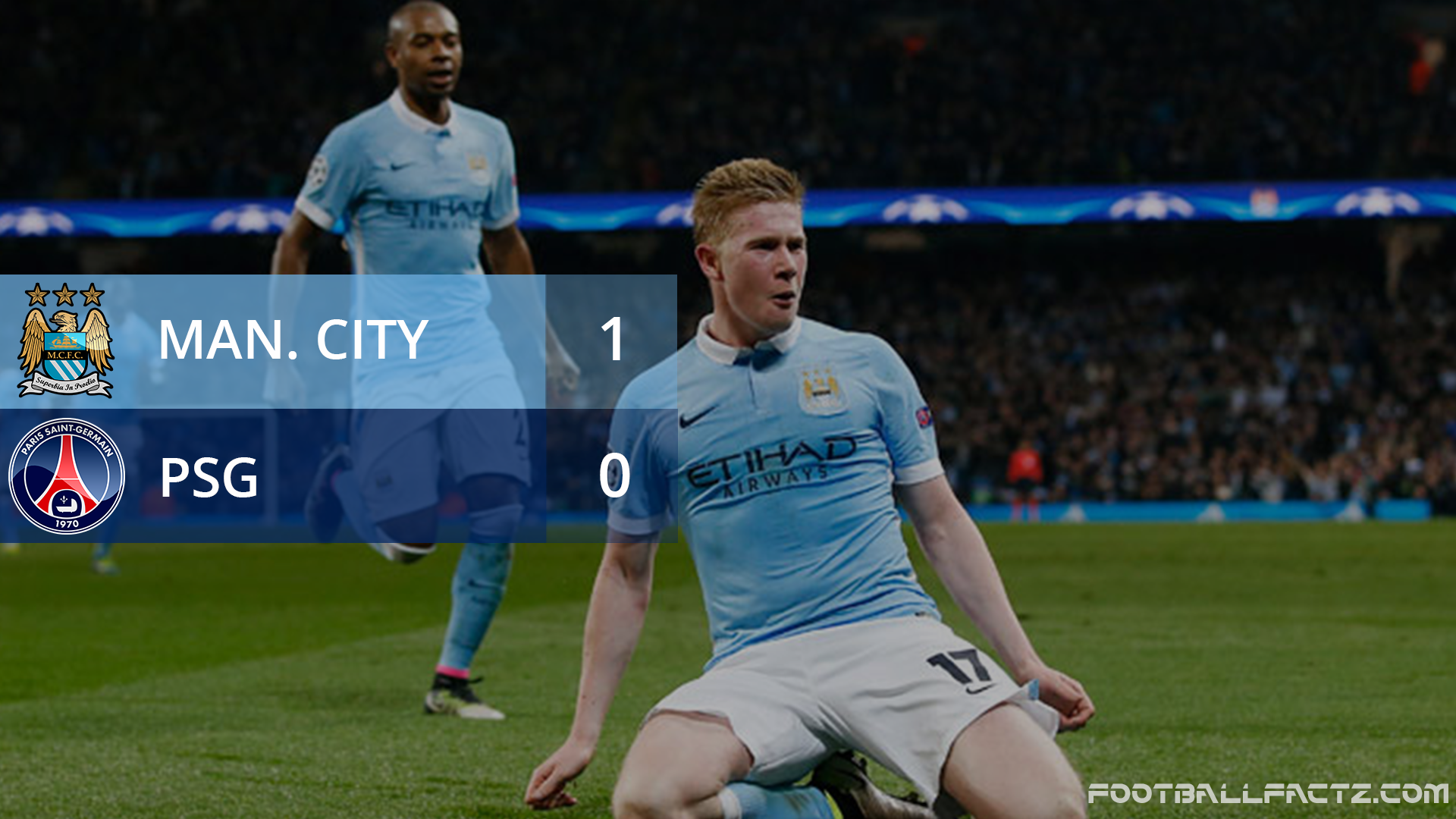 Manchester City 1 - 0 PSG, Champions League