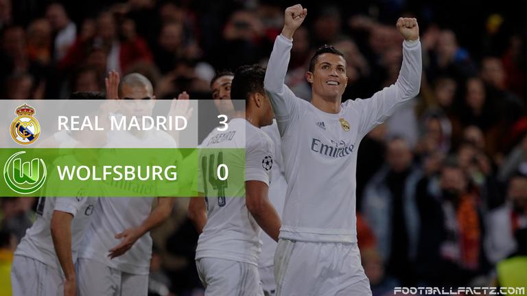 Real Madrid 3 - 0 Wolfsburg, Champions League