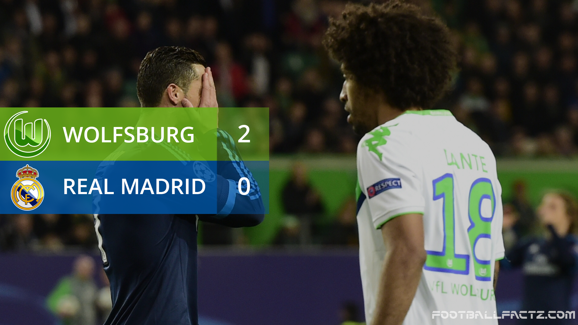 Wolfsburg 2 - 0 Real Madrid, Champions League