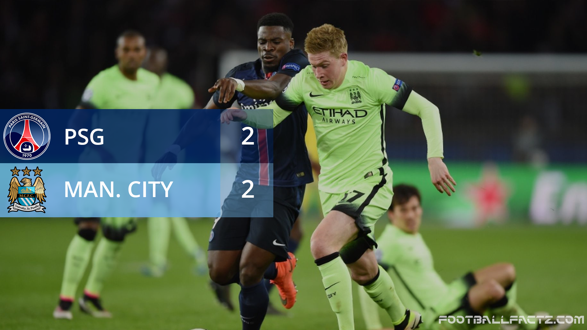 PSG 2 - 2 Manchester City, Champions League