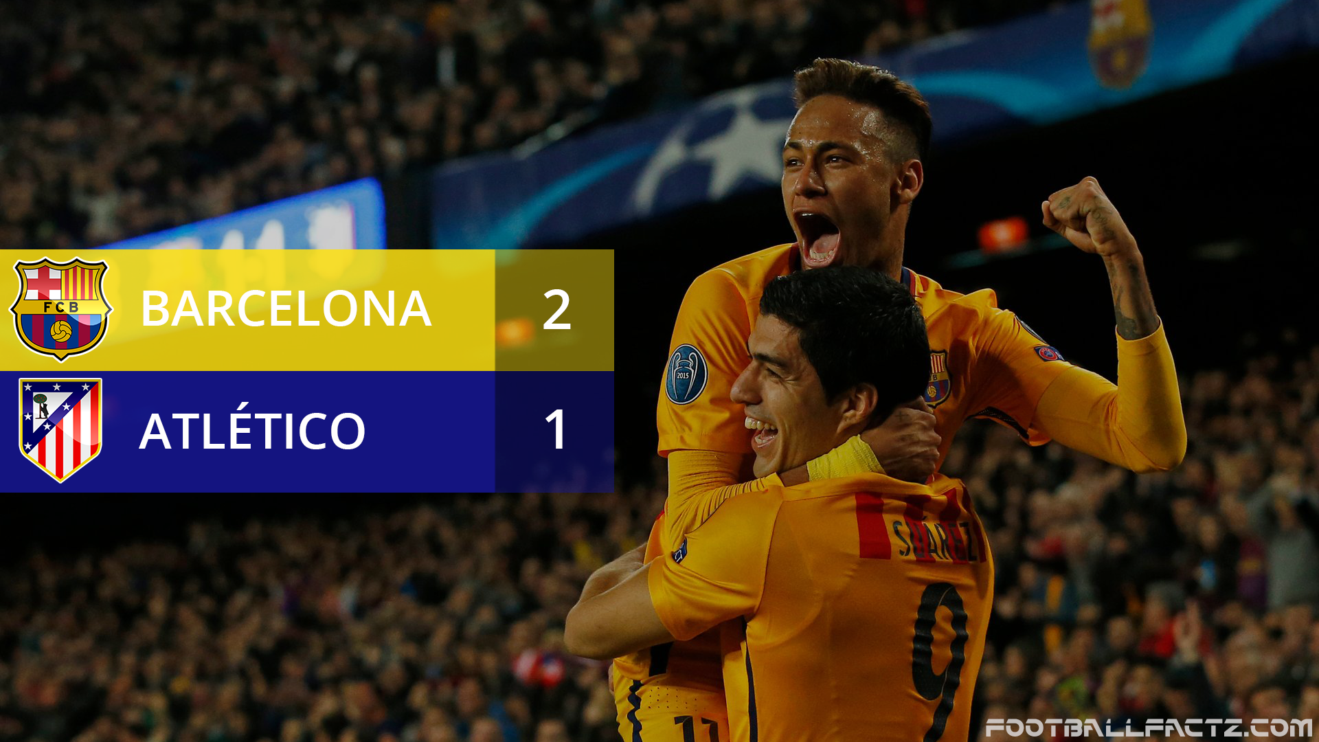 Barcelona 2 - 1 Atletico Madrid, Champions League