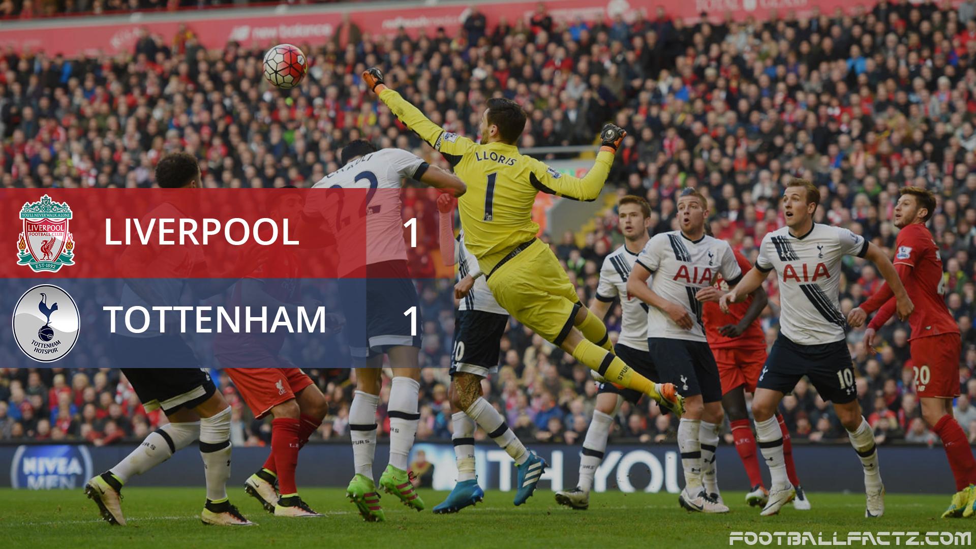 Liverpool 1 - 1 Tottenham, Premier League