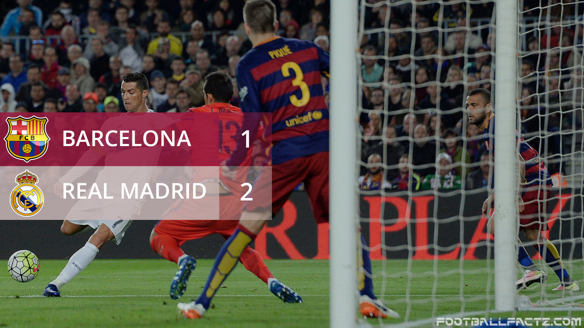 Barcelona 1 - 2 Real Madrid, La Liga
