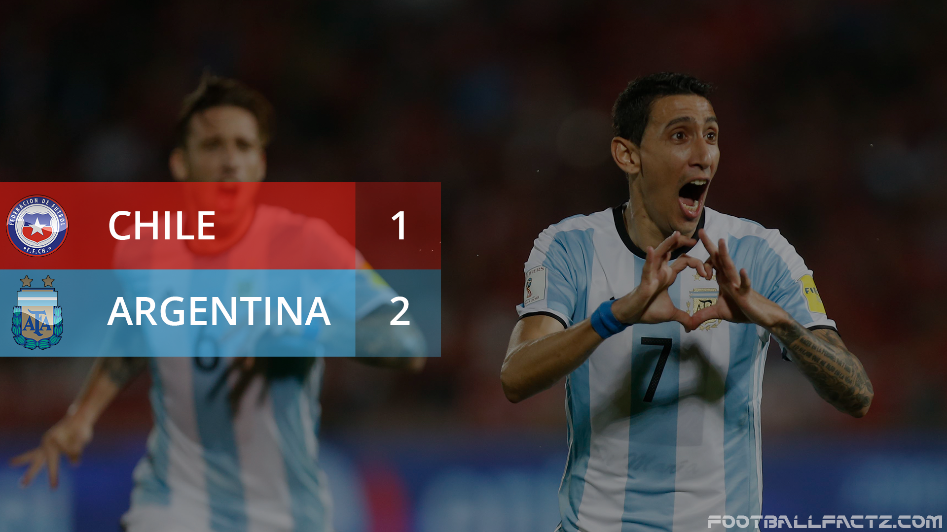 Chile 1 - 2 Argentina, World Cup Qualifier