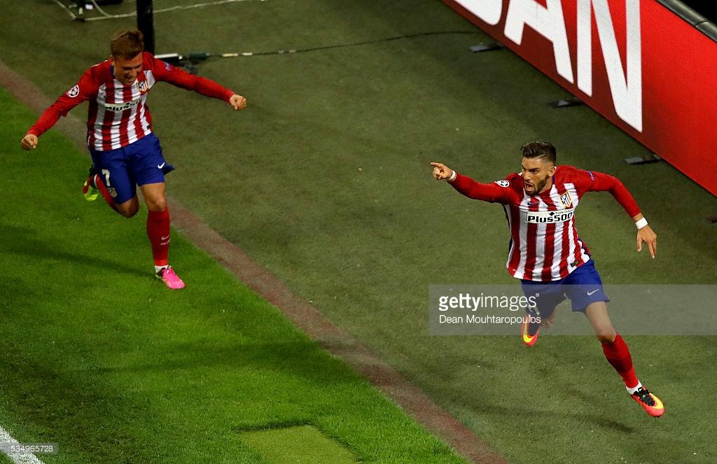 Carrasco celebrating the equaliser