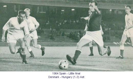Denmark vs Hungary Euro 1964
