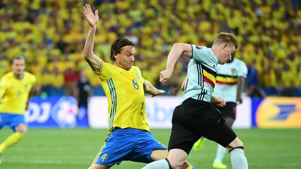 De Bruyne in Sweden vs Belgium