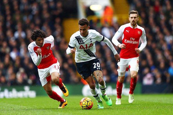 Dele Alli in Tottenham vs Arsenal