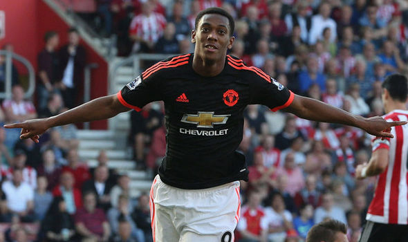 Martial in Sunderland vs Manchester United