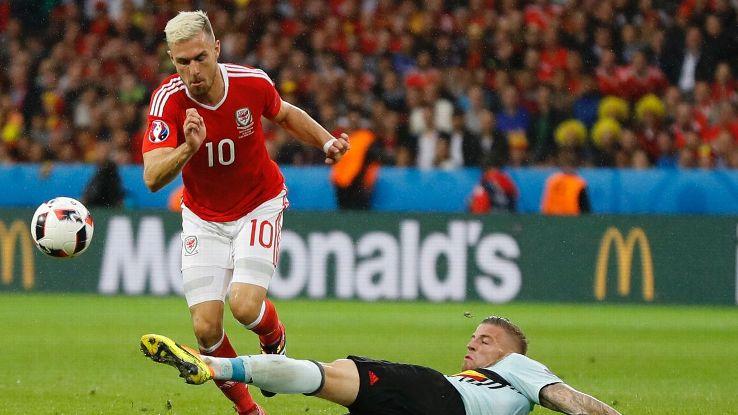 Ramsey in Wales vs Belgium