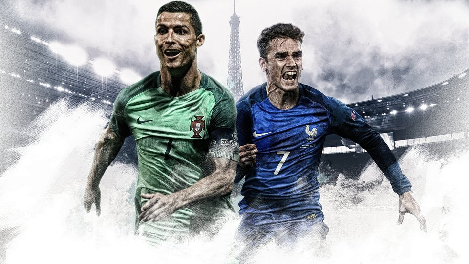 Ronaldo vs Griezmann in the Euro 2016 Final