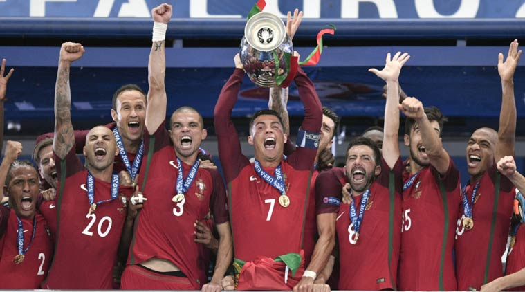 Euro 2016 celebration - Cristiano Ronaldo