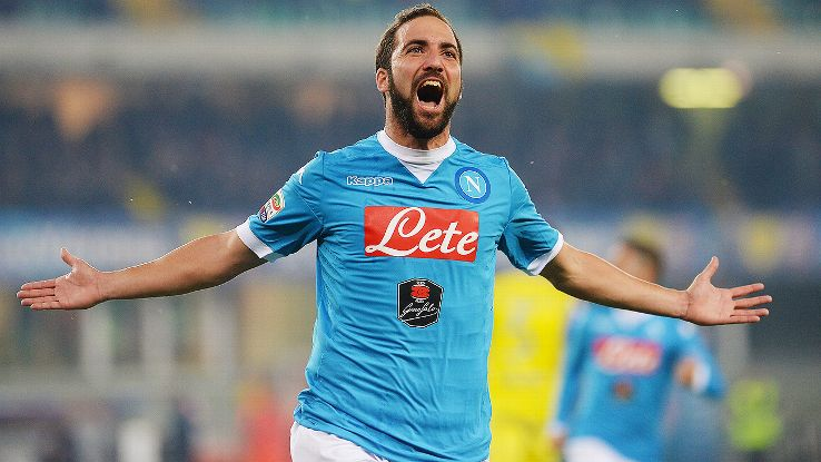Juventus pay record transfer fee for Higuain