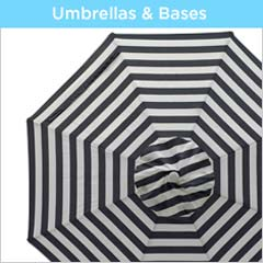 Shop for outdoor patio umbrellas, umbrella bases & umbrella weights