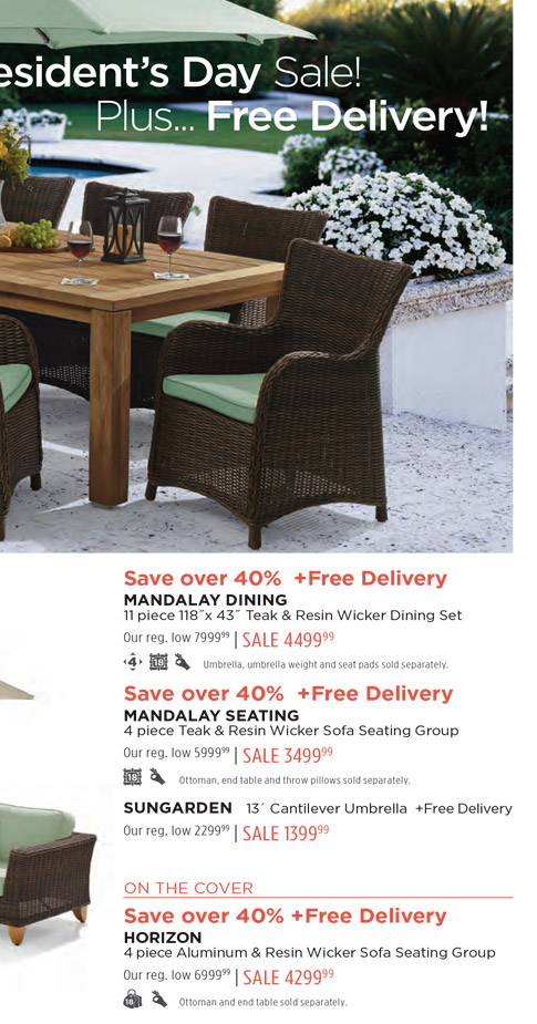 presidents day sale outdoor patio catalog fortunoff