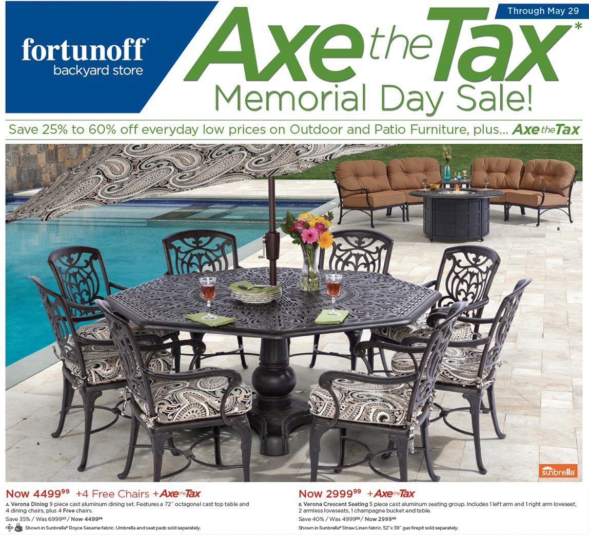 - Axe The Tax Memorial Day Sale! Fortunoff