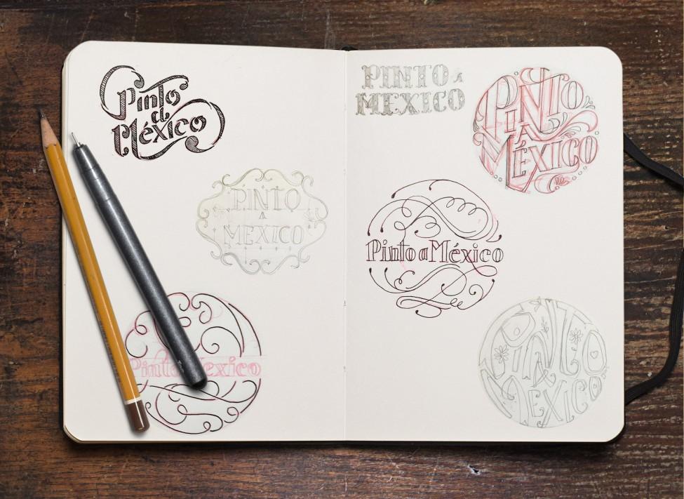 Bocetos de Pinto a México