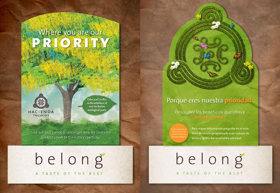 Belong - Tent card