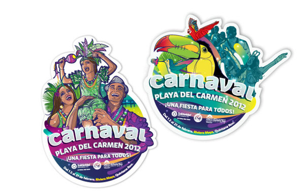 Carnaval 2012 Playa del Carmen - portavaso