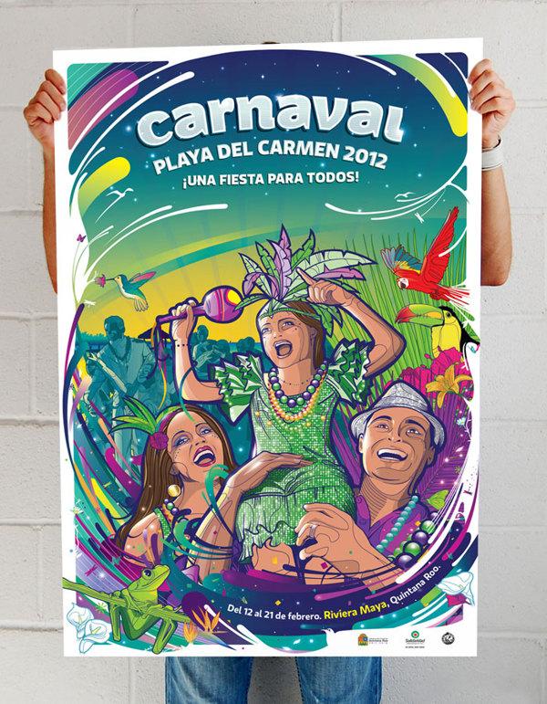 Carnaval 2012 Playa del Carmen - poster