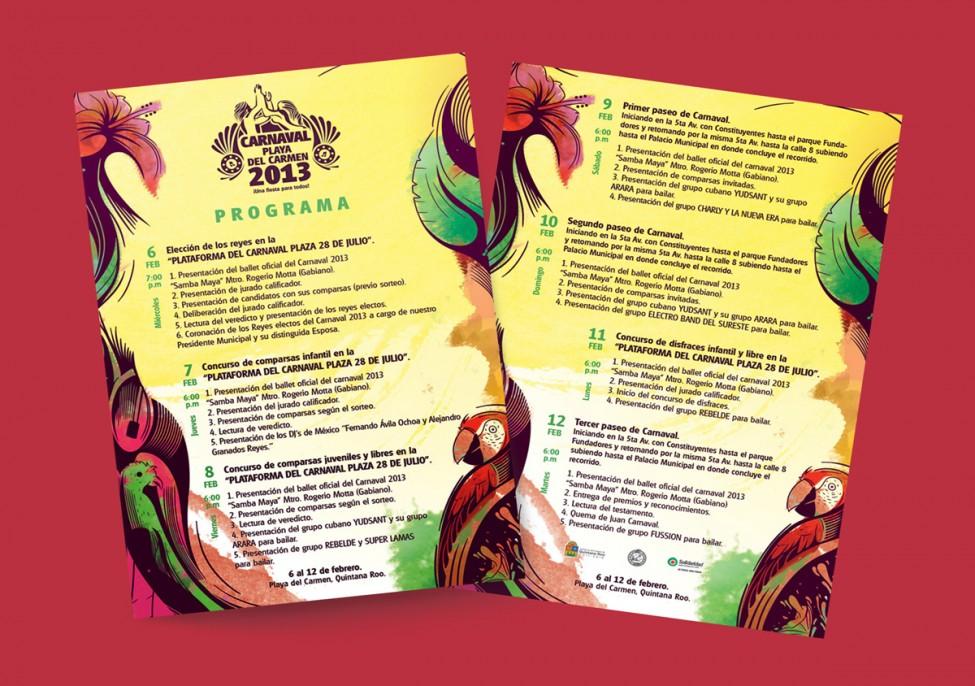 Programa Carnaval Playa del Carmen 2013