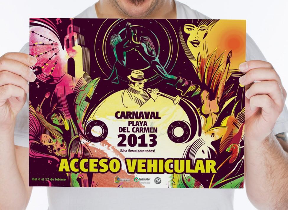 Carnaval Playa del Carmen 2013 - Acceso vehículos