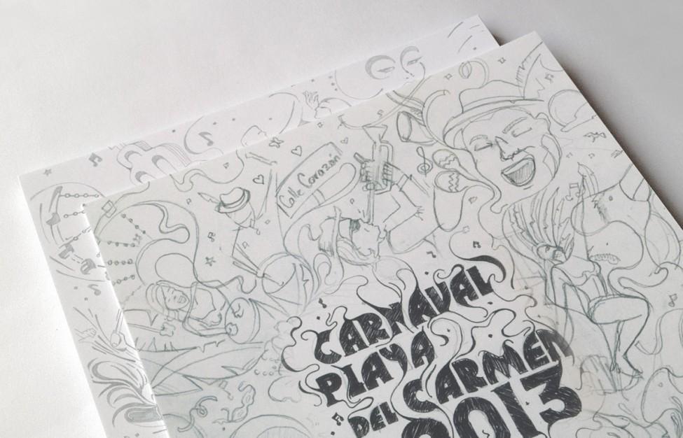 Carnaval Playa del Carmen 2013 - Boceto 2